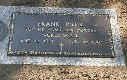 RYCK, FRANK - Douglas County, Nebraska | FRANK RYCK - Nebraska Gravestone Photos