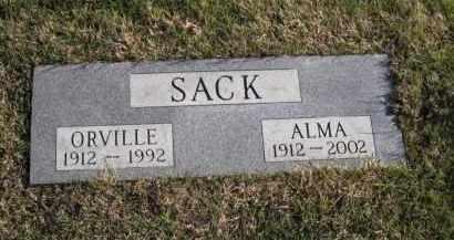 SACK, ALMA - Douglas County, Nebraska   ALMA SACK - Nebraska Gravestone Photos