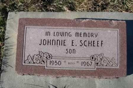 SCHEEF, JOHNNIE - Douglas County, Nebraska | JOHNNIE SCHEEF - Nebraska Gravestone Photos