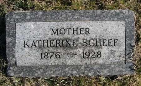SCHEEF, KATHERINE - Douglas County, Nebraska   KATHERINE SCHEEF - Nebraska Gravestone Photos