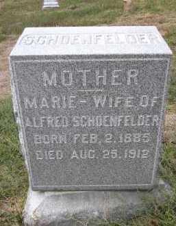 SCHOENFELDER, MARIE - Douglas County, Nebraska | MARIE SCHOENFELDER - Nebraska Gravestone Photos