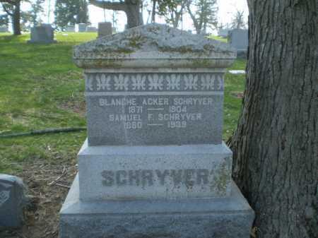 SCHRYVER, BLANCHE - Douglas County, Nebraska   BLANCHE SCHRYVER - Nebraska Gravestone Photos