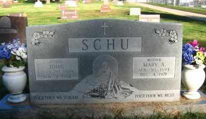 SCHU, MARY A - Douglas County, Nebraska | MARY A SCHU - Nebraska Gravestone Photos