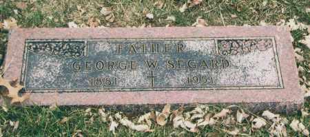 SEGARD, GEORGE - Douglas County, Nebraska   GEORGE SEGARD - Nebraska Gravestone Photos