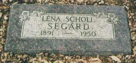 SCHOLL SEGARD, LENA - Douglas County, Nebraska | LENA SCHOLL SEGARD - Nebraska Gravestone Photos