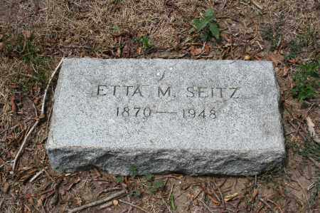 SEITZ, ETTA M. - Douglas County, Nebraska | ETTA M. SEITZ - Nebraska Gravestone Photos