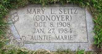 SEITZ, MARY L. - Douglas County, Nebraska   MARY L. SEITZ - Nebraska Gravestone Photos