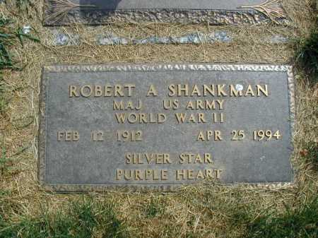 SHANKMAN, ROBERT A - Douglas County, Nebraska   ROBERT A SHANKMAN - Nebraska Gravestone Photos