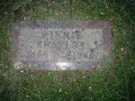 SHAYLOR, MINNIE E - Douglas County, Nebraska   MINNIE E SHAYLOR - Nebraska Gravestone Photos