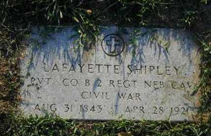SHIPLEY, LAFAYETTE - Douglas County, Nebraska | LAFAYETTE SHIPLEY - Nebraska Gravestone Photos