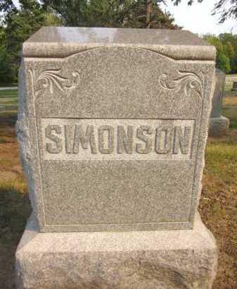 SIMONSON, FAMILY - Douglas County, Nebraska | FAMILY SIMONSON - Nebraska Gravestone Photos