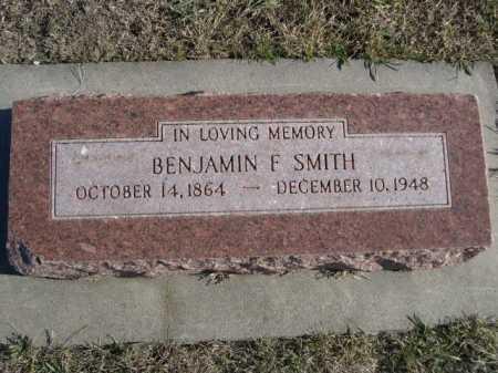 SMITH, BENJAMIN F. - Douglas County, Nebraska   BENJAMIN F. SMITH - Nebraska Gravestone Photos