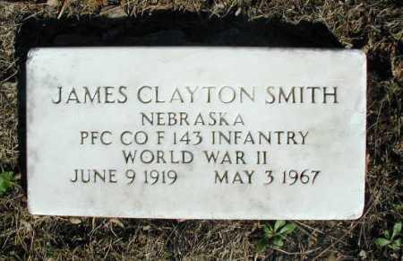 SMITH, JAMES CLAYTON - Douglas County, Nebraska | JAMES CLAYTON SMITH - Nebraska Gravestone Photos