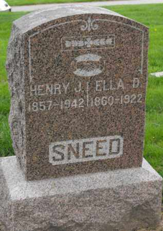SNEED, ELLA D. - Douglas County, Nebraska   ELLA D. SNEED - Nebraska Gravestone Photos