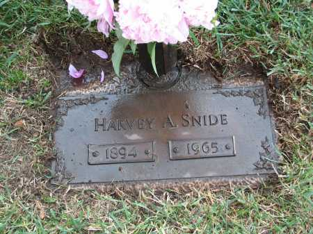SNIDE, HARVEY A - Douglas County, Nebraska | HARVEY A SNIDE - Nebraska Gravestone Photos
