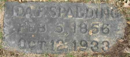 SPALDING, IDA FLORENCE - Douglas County, Nebraska | IDA FLORENCE SPALDING - Nebraska Gravestone Photos