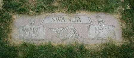 SWANDA, KAREN KAYE - Douglas County, Nebraska | KAREN KAYE SWANDA - Nebraska Gravestone Photos