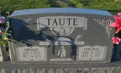 TAUTE, VIRGINIA - Douglas County, Nebraska | VIRGINIA TAUTE - Nebraska Gravestone Photos