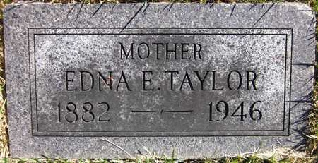 TAYLOR, EDNA E. - Douglas County, Nebraska   EDNA E. TAYLOR - Nebraska Gravestone Photos