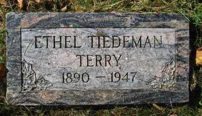 TIEDEMAN TERRY, ETHEL - Douglas County, Nebraska | ETHEL TIEDEMAN TERRY - Nebraska Gravestone Photos