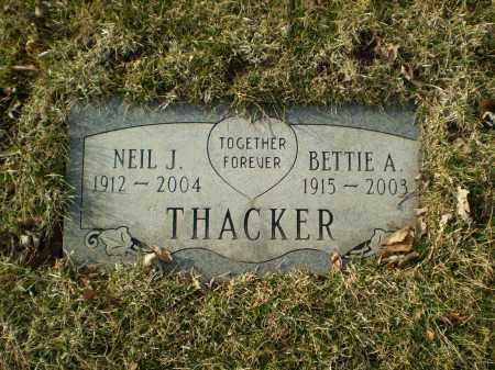 THACKER, BETTIE A - Douglas County, Nebraska | BETTIE A THACKER - Nebraska Gravestone Photos