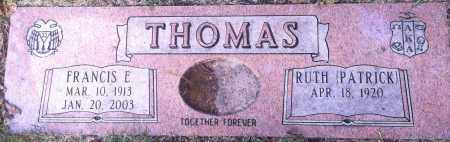 PACTIRCK RUTH, THOMAS - Douglas County, Nebraska | THOMAS PACTIRCK RUTH - Nebraska Gravestone Photos