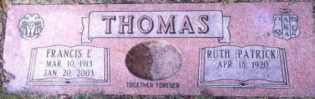 THOMAS, FRANCIS E. - Douglas County, Nebraska | FRANCIS E. THOMAS - Nebraska Gravestone Photos