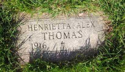 ALEX THOMAS, HENRIETTA - Douglas County, Nebraska | HENRIETTA ALEX THOMAS - Nebraska Gravestone Photos