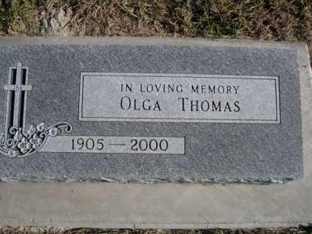 THOMAS, OLGA - Douglas County, Nebraska | OLGA THOMAS - Nebraska Gravestone Photos