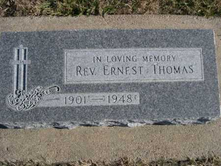 THOMAS, REV. ERNEST - Douglas County, Nebraska | REV. ERNEST THOMAS - Nebraska Gravestone Photos