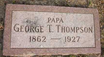 THOMPSON, GEORGE T. - Douglas County, Nebraska | GEORGE T. THOMPSON - Nebraska Gravestone Photos