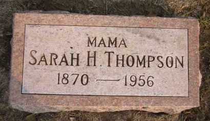 THOMPSON, SARAH H. - Douglas County, Nebraska | SARAH H. THOMPSON - Nebraska Gravestone Photos