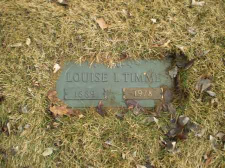 TIMME, LOUISE I - Douglas County, Nebraska   LOUISE I TIMME - Nebraska Gravestone Photos