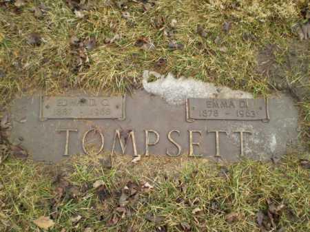 TOMPSETT, EDWARD C - Douglas County, Nebraska | EDWARD C TOMPSETT - Nebraska Gravestone Photos