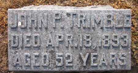 TRIMBLE, JOHN P. - Douglas County, Nebraska | JOHN P. TRIMBLE - Nebraska Gravestone Photos