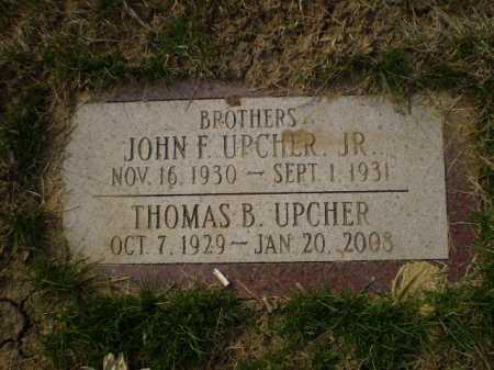 UPCHER, THOMAS B. - Douglas County, Nebraska | THOMAS B. UPCHER - Nebraska Gravestone Photos