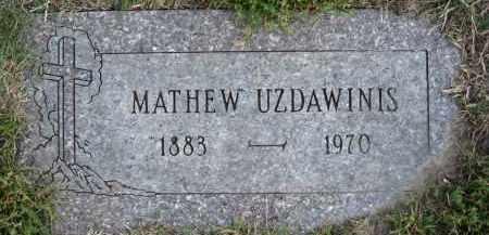 UZDAWINIS, MATHEW - Douglas County, Nebraska | MATHEW UZDAWINIS - Nebraska Gravestone Photos