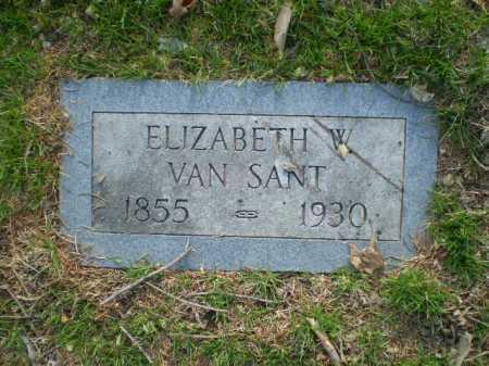 VAN SANT, ELIZABETH W. - Douglas County, Nebraska | ELIZABETH W. VAN SANT - Nebraska Gravestone Photos