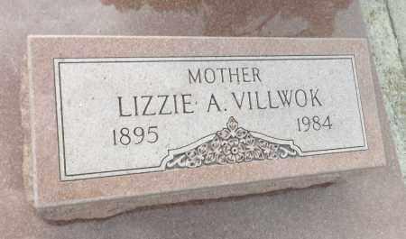 VILLWOK, LIZZIE A. (CLOSE UP) - Douglas County, Nebraska | LIZZIE A. (CLOSE UP) VILLWOK - Nebraska Gravestone Photos