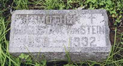 VON STEIN, AUGUSTA W. - Douglas County, Nebraska   AUGUSTA W. VON STEIN - Nebraska Gravestone Photos