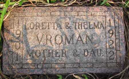 VROMAN, THELMA - Douglas County, Nebraska | THELMA VROMAN - Nebraska Gravestone Photos