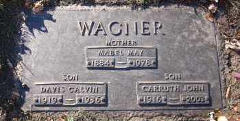 WAGNER, DAVIS CALVIN - Douglas County, Nebraska | DAVIS CALVIN WAGNER - Nebraska Gravestone Photos