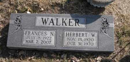 WALKER, HERBERT W. - Douglas County, Nebraska   HERBERT W. WALKER - Nebraska Gravestone Photos