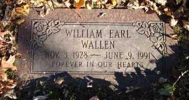 WALLEN, WILLIAM EARL - Douglas County, Nebraska | WILLIAM EARL WALLEN - Nebraska Gravestone Photos