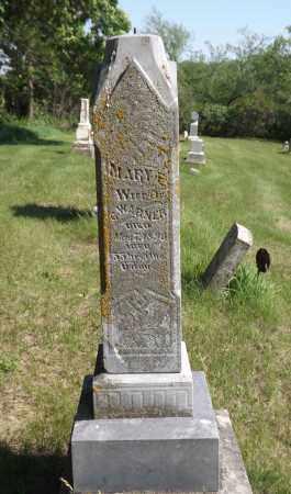 WARNER, MARY E. - Douglas County, Nebraska | MARY E. WARNER - Nebraska Gravestone Photos