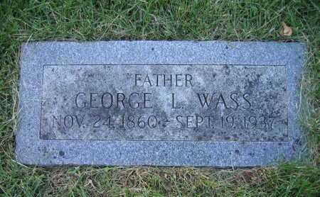 WASS, GEORGE L - Douglas County, Nebraska | GEORGE L WASS - Nebraska Gravestone Photos
