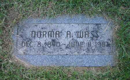 WASS, NORMA ALICE - Douglas County, Nebraska | NORMA ALICE WASS - Nebraska Gravestone Photos