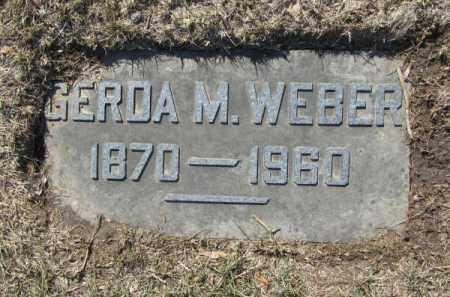 WEBER, GERDA M - Douglas County, Nebraska | GERDA M WEBER - Nebraska Gravestone Photos