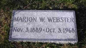 WEBSTER, MARION W. - Douglas County, Nebraska | MARION W. WEBSTER - Nebraska Gravestone Photos