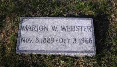 WEBSTER, MARION - Douglas County, Nebraska   MARION WEBSTER - Nebraska Gravestone Photos